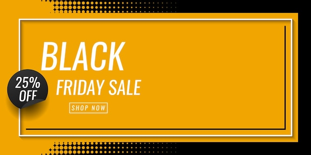 Zwarte vrijdag verkoop banner sjabloonontwerp Premium Vector