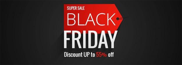 Zwarte vrijdag verkoop banner Gratis Vector