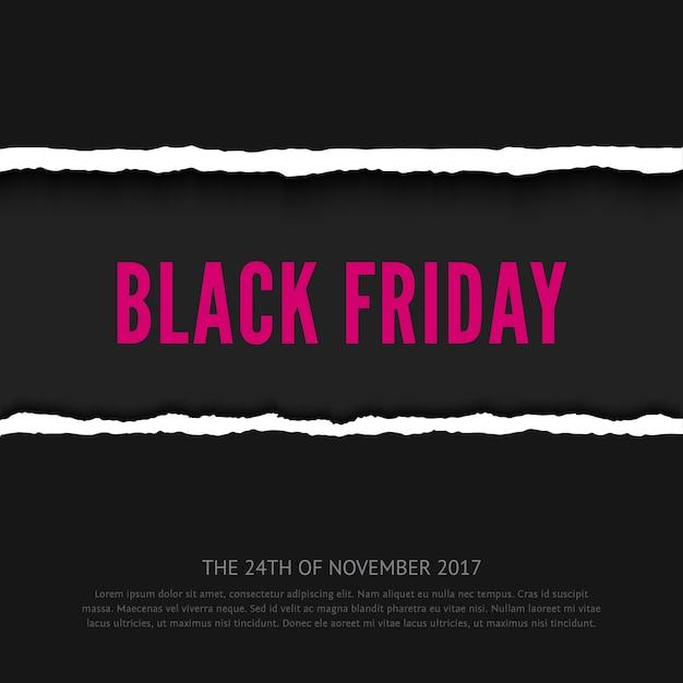 Zwarte vrijdag verkoop banner Premium Vector