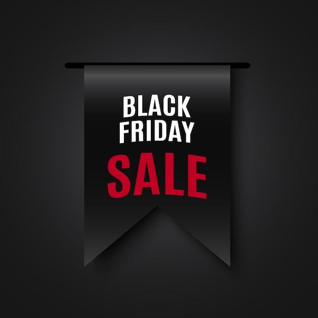 Zwarte vrijdag verkoop banner. . Premium Vector