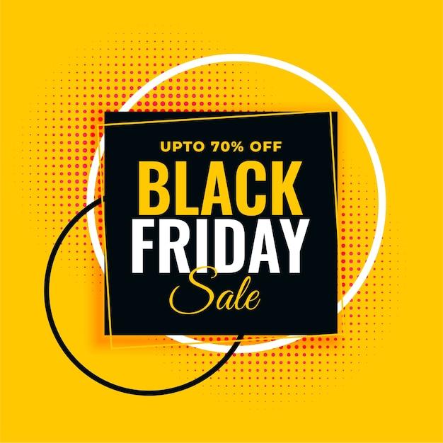 Zwarte vrijdag verkoop gele sjabloon voor spandoek Gratis Vector