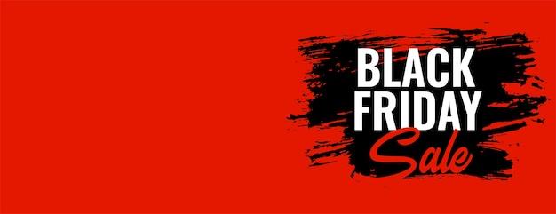 Zwarte vrijdag verkoop oranje brede banner met tekstruimte Gratis Vector