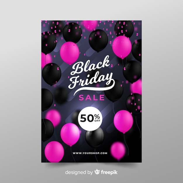 Zwarte vrijdag verkoopsjabloon banner Gratis Vector