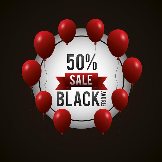 Zwarte vrijdag winkelen verkoop achtergrond Gratis Vector