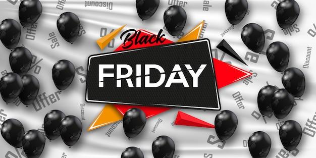 Zwarte vrijdag Premium Vector