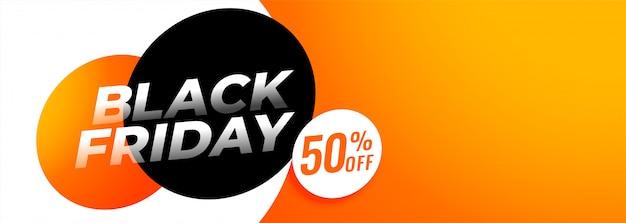 Zwarte vrijdagaanbieding en overeenkomstenbanner met copyspace Gratis Vector