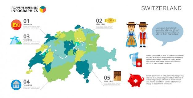 Zwitserland concept schuifmalplaatje Gratis Vector